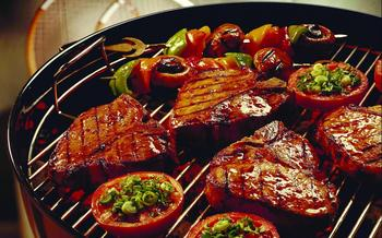 grilled food